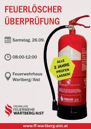 Plakat Feuerlöscherüberprüfung 2020